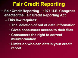 Fair credit reporting act attorney quincy